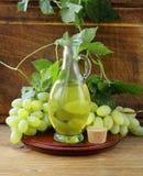 Jugful z gronowym nasieniodajnym olejem zdjęcie stock