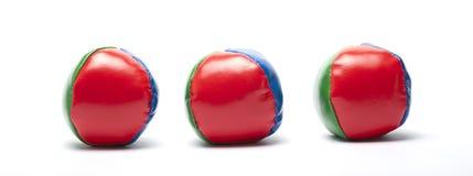 Juggle balls. Three juggle balls  on white Royalty Free Stock Photos