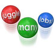 Juggle Many Jobs Royalty Free Stock Image