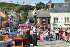 Juggle throwers at Clifden 2013. Juggle throwers entertaining the crowd at Clifden Arts festival 2013 Royalty Free Stock Images