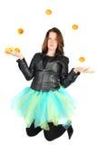 juggleing γυναίκα κοστουμιών μπαλέτου Στοκ Φωτογραφία