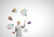 Juggler женщины Стоковое Фото