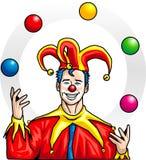 Juggler. A man in juggler dress Stock Images