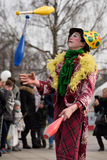 Juggler in annual traditional crafts fair, VIlnius Stock Photography