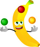Juggler banana Stock Images