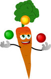Juggler carrot Royalty Free Stock Image