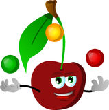 Juggler cherry Royalty Free Stock Images