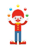 juggler clown with balls isolated icon design Royalty Free Stock Images