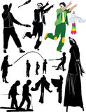 Juggler clown people Royalty Free Stock Images