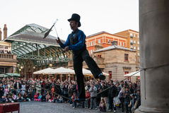 Juggler in Covent Garden Stock Photo