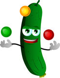 Juggler cucumber or pickle Stock Photography