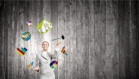 Juggler da mulher Imagem de Stock