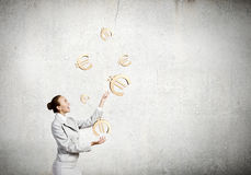 Juggler da mulher Fotografia de Stock