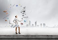 Juggler da mulher imagens de stock royalty free