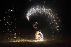 Juggler dziewczyna Zdjęcia Royalty Free