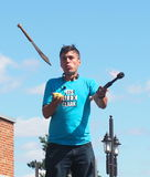 Juggler At Edmonton Fringe Festival Stock Photography