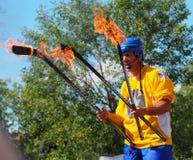 Juggler At Edmonton Fringe Festival Royalty Free Stock Image