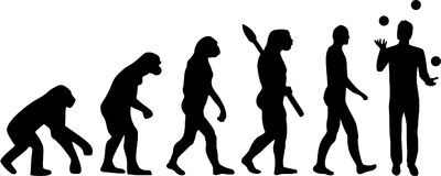 Juggler Evolution. Vector sports icon Stock Images