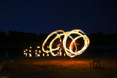 Juggler fire Royalty Free Stock Images
