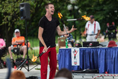Juggler at Iowa State Fair at Iowa State Fair Royalty Free Stock Photography