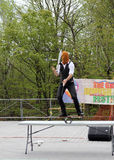 Juggler. At Lag B'Omer celebration  in Earl Bales Park in May 18, 2014 in Toronto, Canada Stock Photos