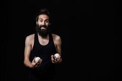 Juggler ma funt przy cyrkiem Zdjęcie Stock