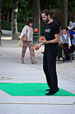 Juggler in the park Stock Photo