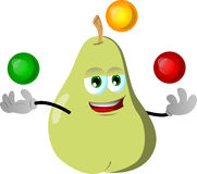 Juggler pear Royalty Free Stock Images