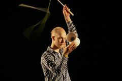 Juggler perform show with diabolo Royalty Free Stock Images