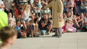 Juggler Performes a Street Show Stock Images