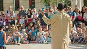 Juggler Performes a Street Show Royalty Free Stock Images