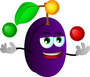 Juggler plum Stock Images