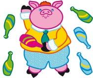 Juggler. Pork juggler drawn in Stock Photography