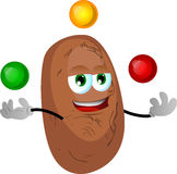 Juggler potato Royalty Free Stock Images