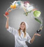Juggler szef kuchni Zdjęcie Royalty Free