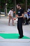 Juggler w parku Zdjęcie Stock