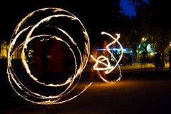 Jugglers пожара Стоковые Изображения