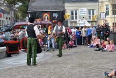 Jugglers entertaining at Clifden 2013. Royalty Free Stock Image
