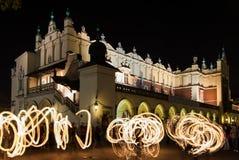 Jugglers in Krakow Royalty Free Stock Image