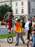 Jugglers, Lublin, Poland Stock Images