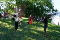 Jugglers Przy 2015 wytwora festiwalem 7 Obraz Royalty Free