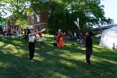 Jugglers Przy 2015 wytwora festiwalem 11 Zdjęcie Stock