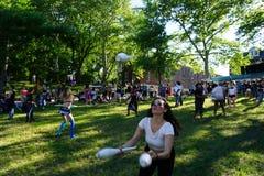 Jugglers Przy 2015 wytwora festiwalem 18 Fotografia Stock