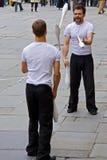 jugglers uliczni Obraz Royalty Free