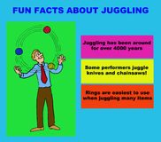 juggling Royalty-vrije Stock Afbeelding