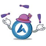 Juggling Ardor coin mascot cartoon. Vector illustration Stock Photo