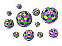 Juggling balls Stock Image