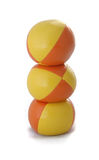 Juggling Balls. Juggling ball tower Stock Images