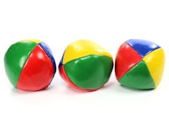 Juggling balls. Isolated on white background Royalty Free Stock Photo