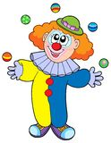 Juggling cartoon clown Royalty Free Stock Photo